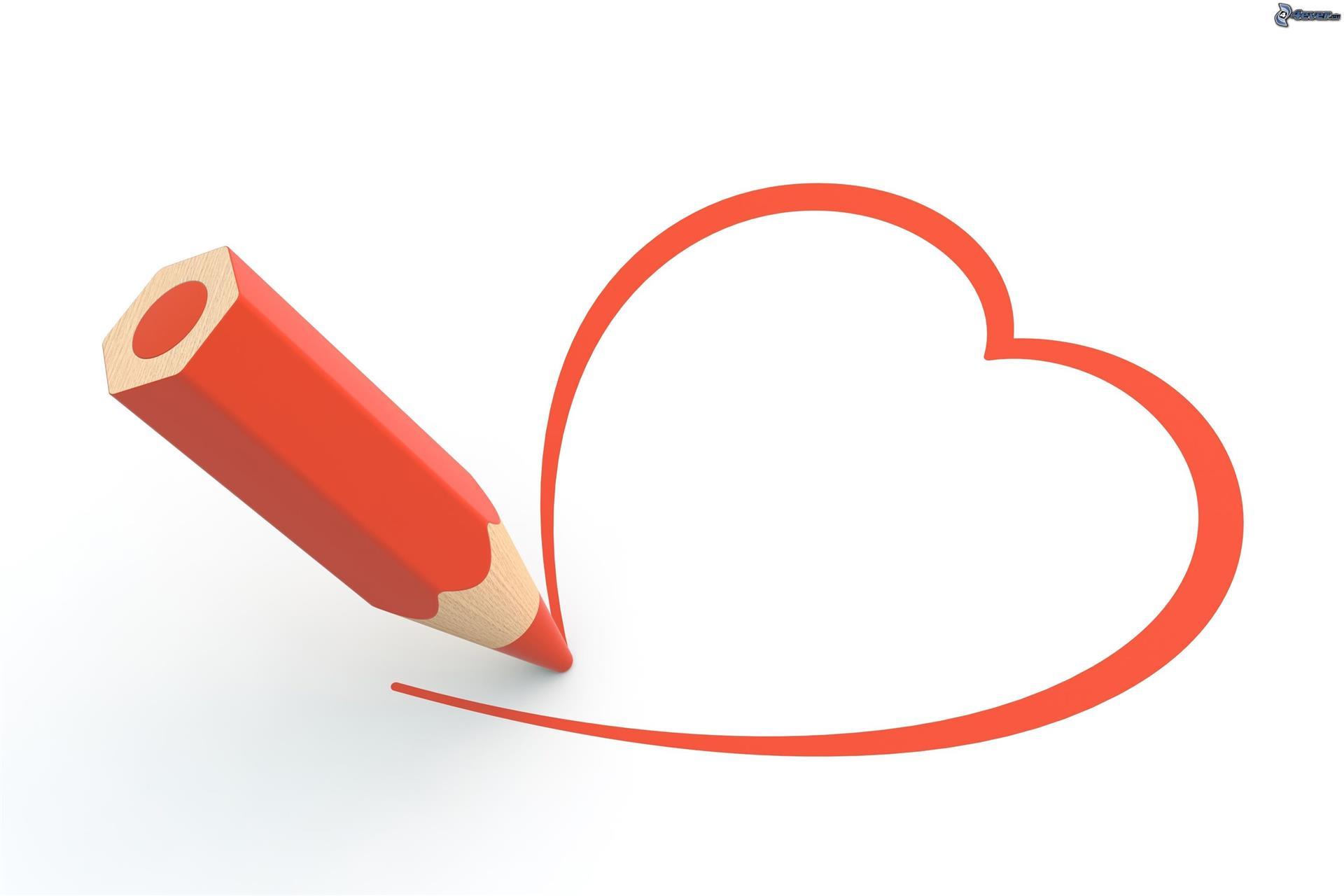 [images.4ever.eu] coeur rouge, crayon 168870 - FOTOLIA