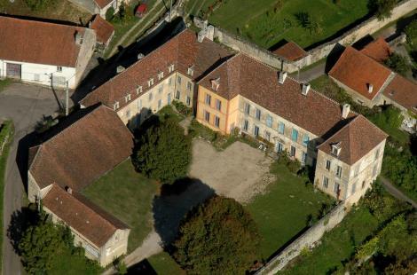 Vue aérienne Château de Ste Colombe