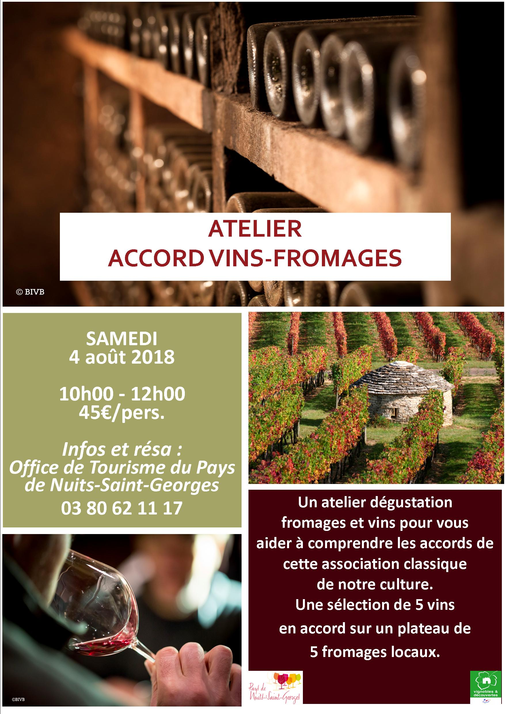 Atelier accords vins - fromages