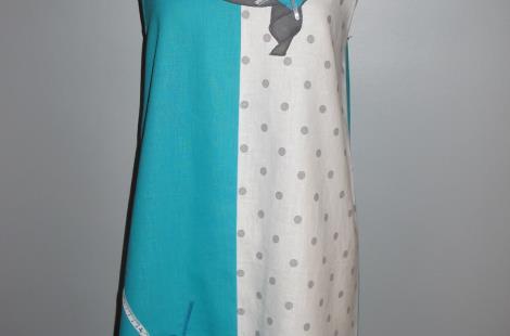 Robe lin à col