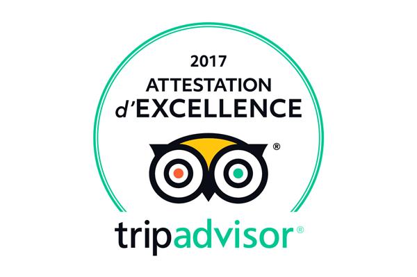attestation-excellence-la-terrasse-des-climats-2017 - Tripadvisor