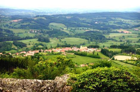 panorama du mont St-Cyr,Montmelard; JF AUFRAND