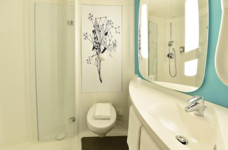Salle de bain Ibis Budget Dijon Clemenceau