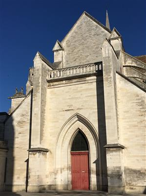 2019-02 Abbaye Saint-Germain. Parvis Eglise