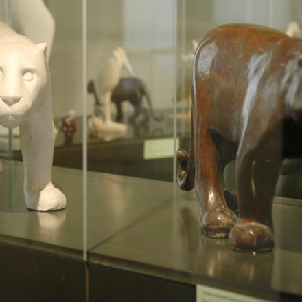 Panthères mouchetées au Musée François Pompon