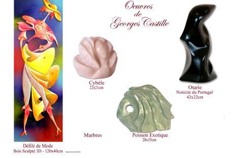 9-Tableaux et Sculptures - Oeuvres de Georges Castille