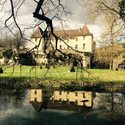 Chateau dans le miroir d'eau