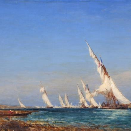 F. Ziem, Lagune dans la Méditerranée