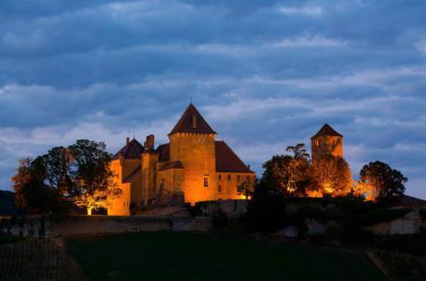 Château de Pierreclos face Sud
