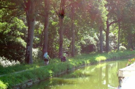 TOW PATH on the Burgundy Canal